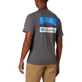Columbia Rapid Ridge Back Graphic T-shirt Heren, grijs